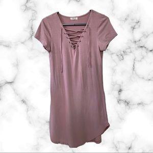 Rose Pink (T-shirt Dress) Dress